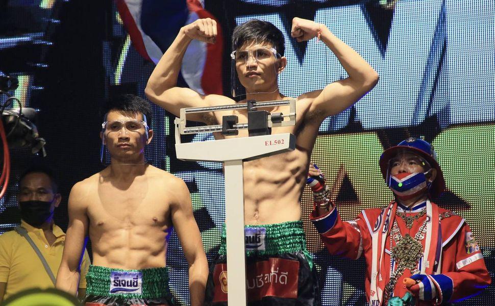 เพชร - ชัยวัฒน์ ชั่งน้ำหนักผ่านทั้งคู่ พร้อมป้องกันแชมป์ รุ่นแบนตั้มเวท 118ปอนด์