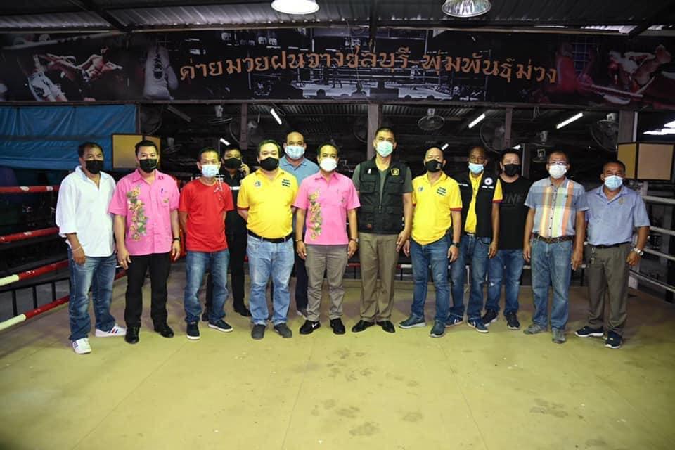 เสี่ยหมู ตรวจเวทีมวยฝนจางชลบุรี เพื่อเตรียมจัดการแข่งขัน ศึกจ้าวมวยไทย